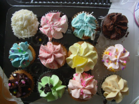 Cupcakes from Cupcakes...the other beautiful aspect of Vancouver: the food!