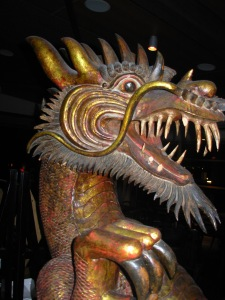 The Dragon that greets patrons of Soul Mama, a vegetarian restaurant in Melbourne