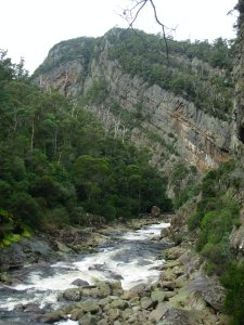 The river running through the Canyon