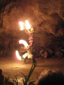 Fire Dancing at Oholei