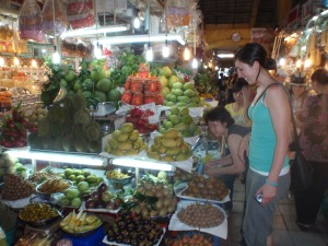Kim at the Markets in Saigon