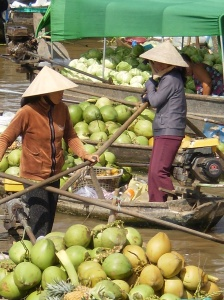 Floating Market of the Mekong Delta