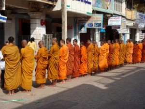 Theravadian Buddhist Monks in Battambang