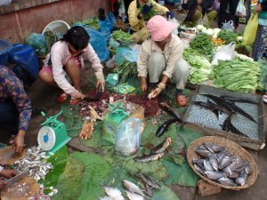 Fresh fish from the market for Amok